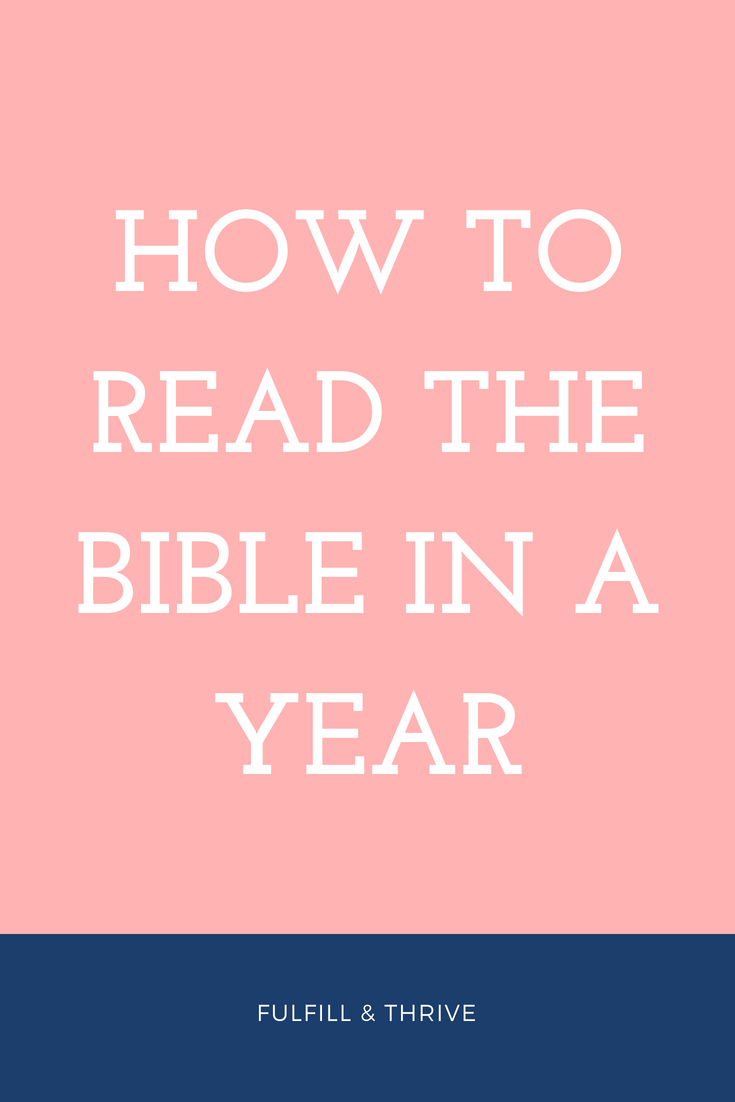 Do you want to read the Bible in a year? It was my New ...