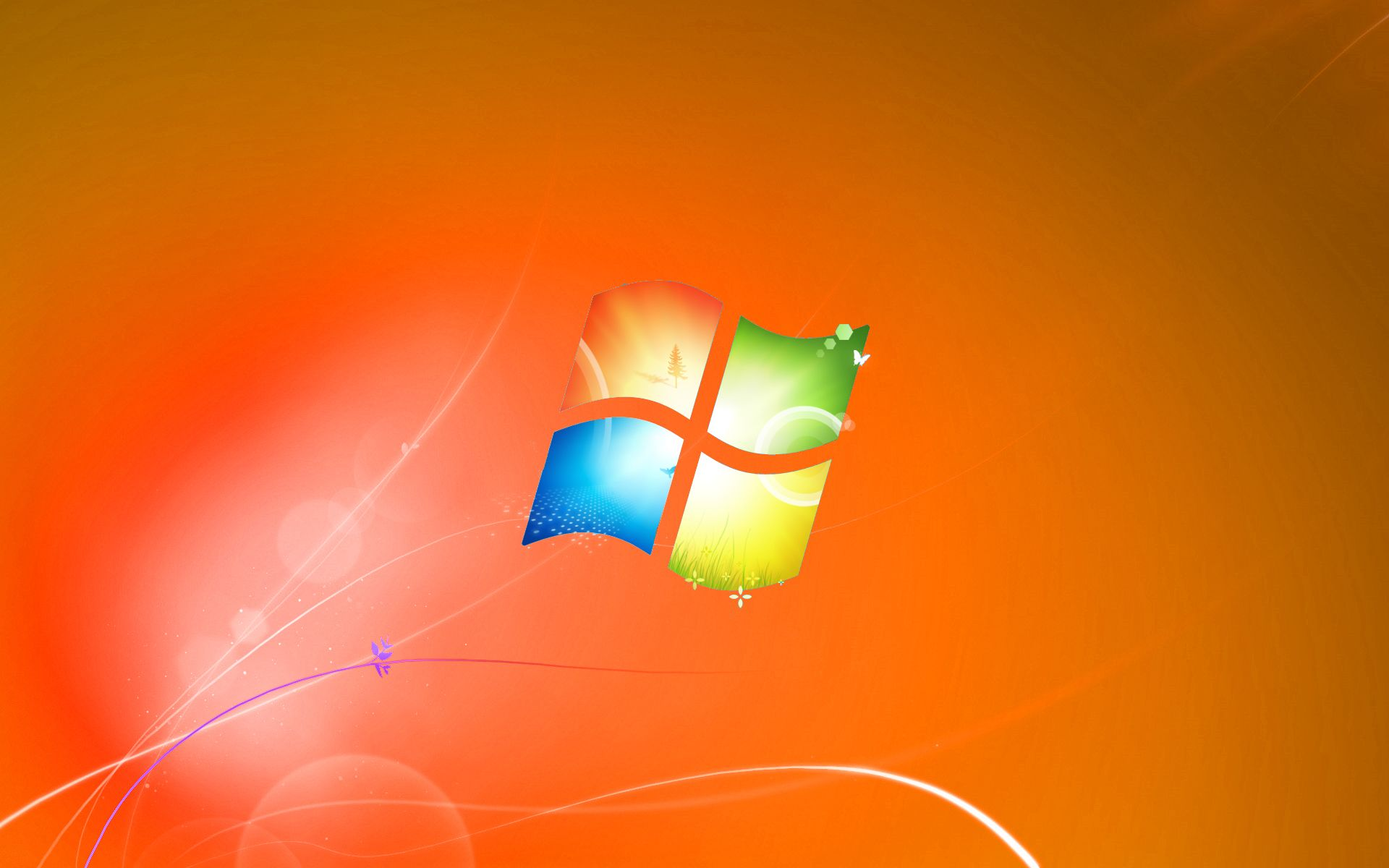 Windows 7 Default Wallpaper Orange Version by dominichulme