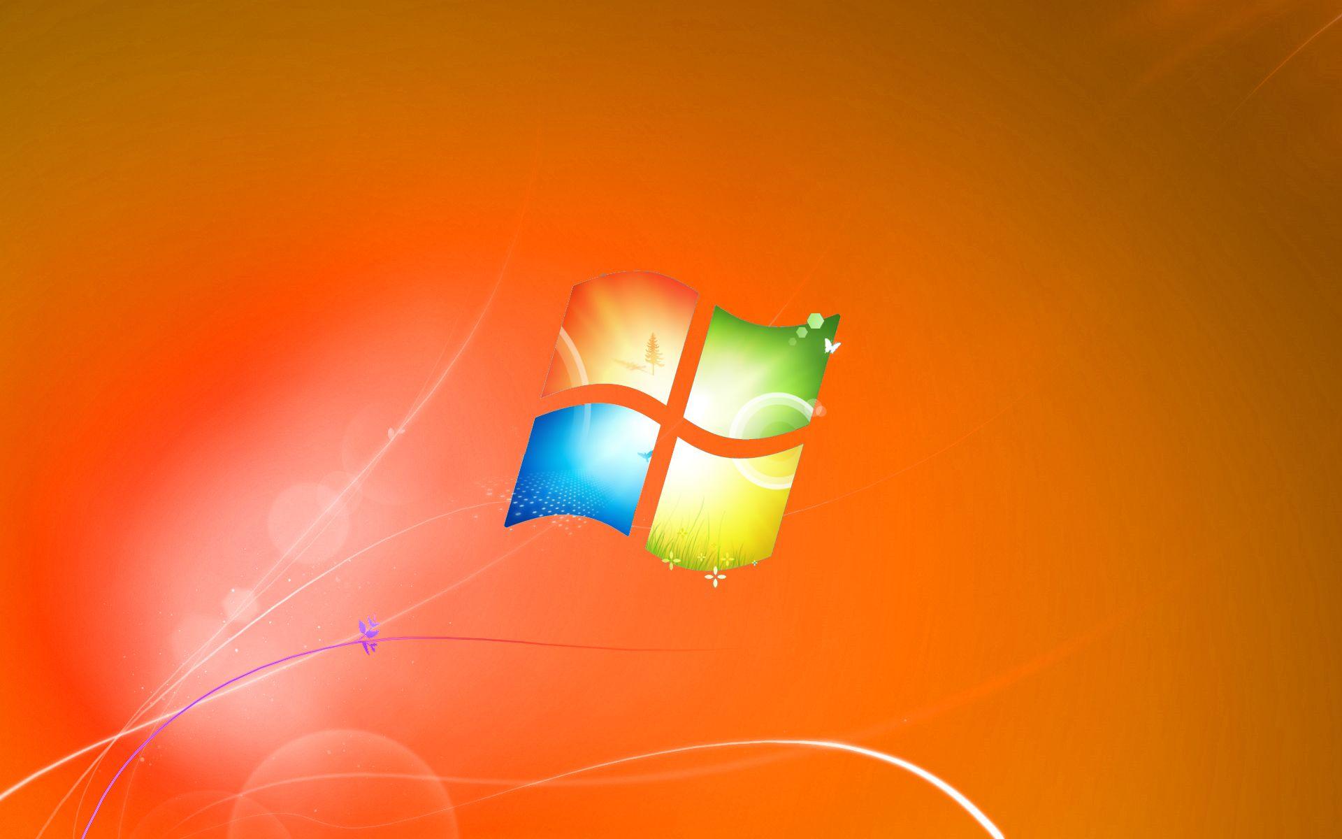 Windows 7 Default Wallpaper Orange Version By Dominichulmedeviantart On DeviantArt