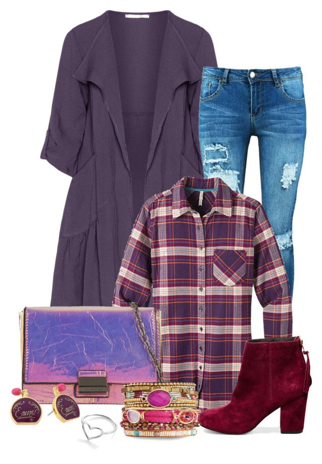 """Plaid For Fall"" by covrigel ❤ liked on Polyvore featuring Oliver Jung, Boohoo, Mountain Khakis, Skinnydip, Steve Madden, Kate Spade and Jordan Askill"