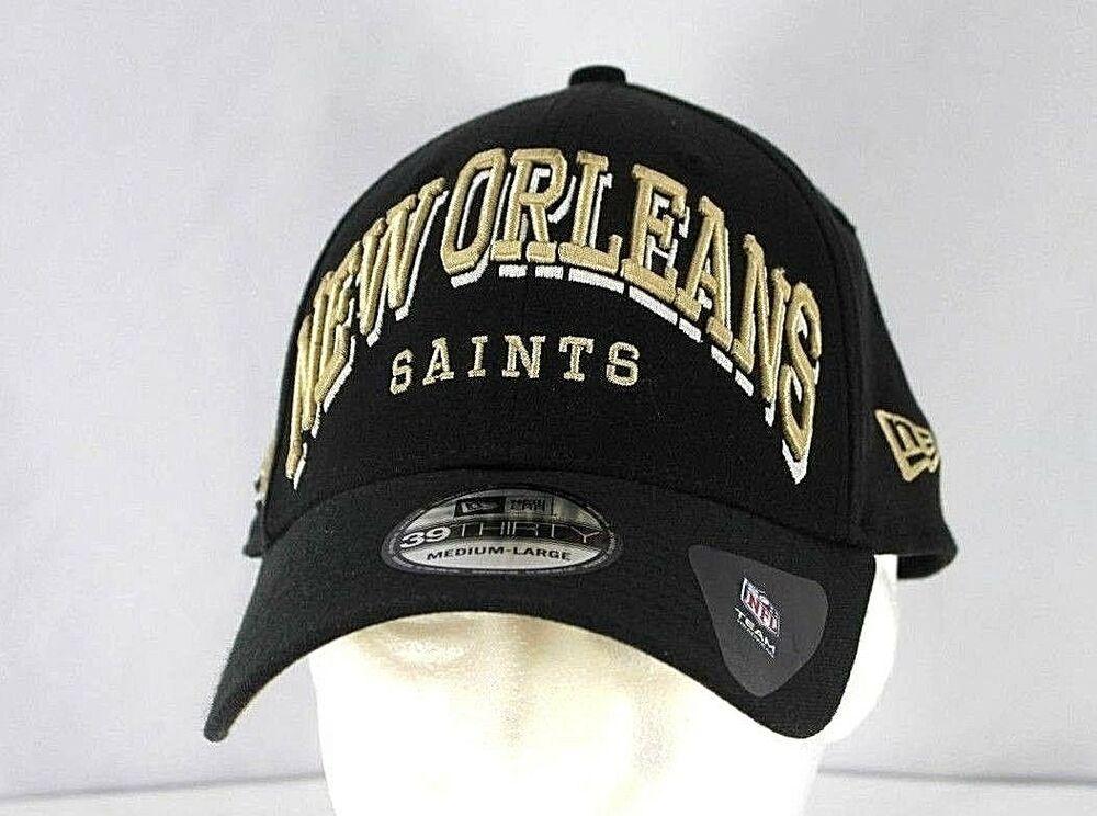 buy online f730e 0d32f New Orleans Saints Black NFL Baseball Cap Stretch Fit M L  NewEra   BaseballCap
