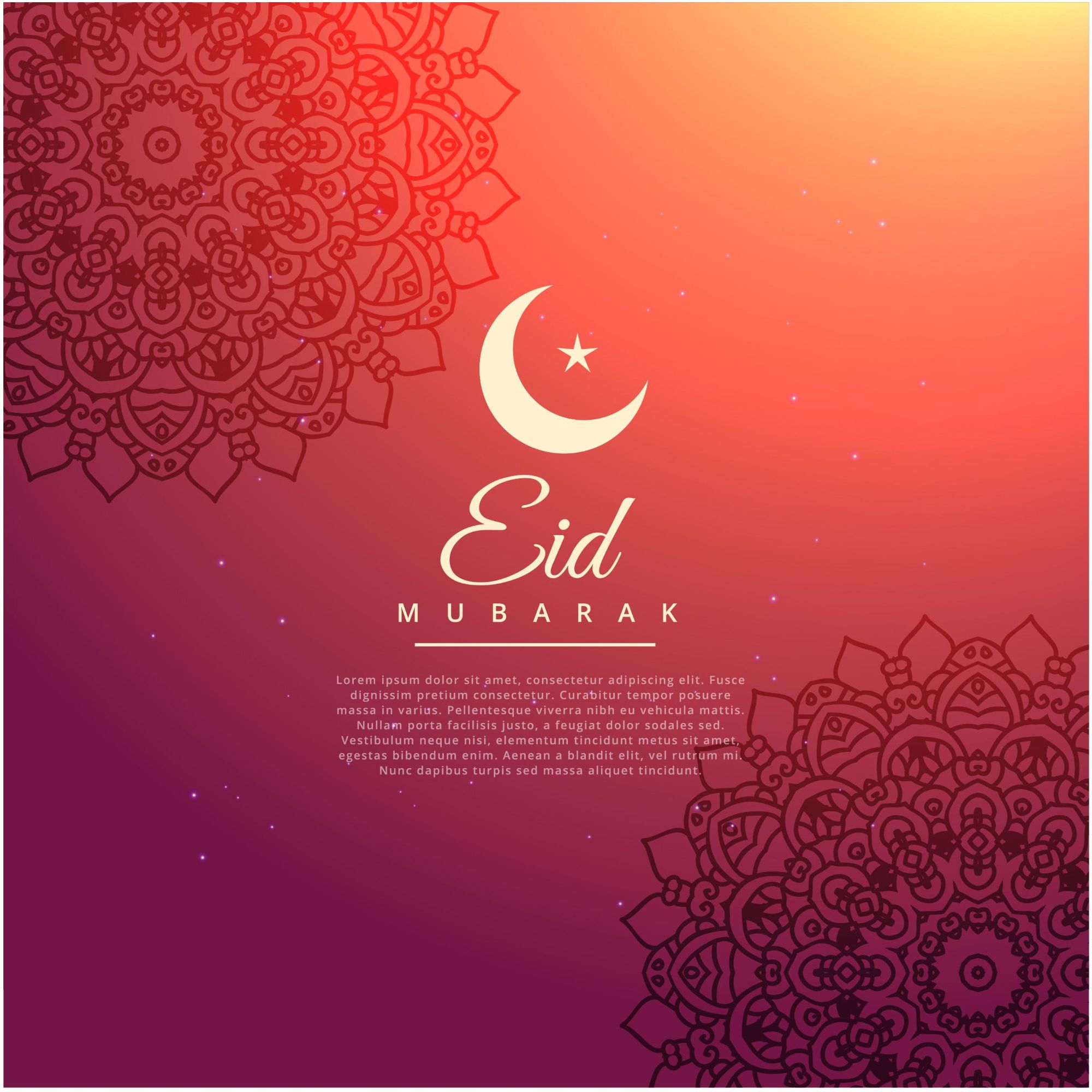 Eid Mubarak Islamic Greeting Banner Design Background Eid Mubarak