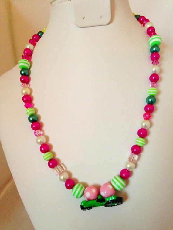 John Deere Tractor Chunky Necklace by DiamondDreamBoutique on Etsy, $13.95
