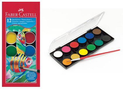 Faber Castell Watercolor Paint Cakes Set Faber Castell Painted