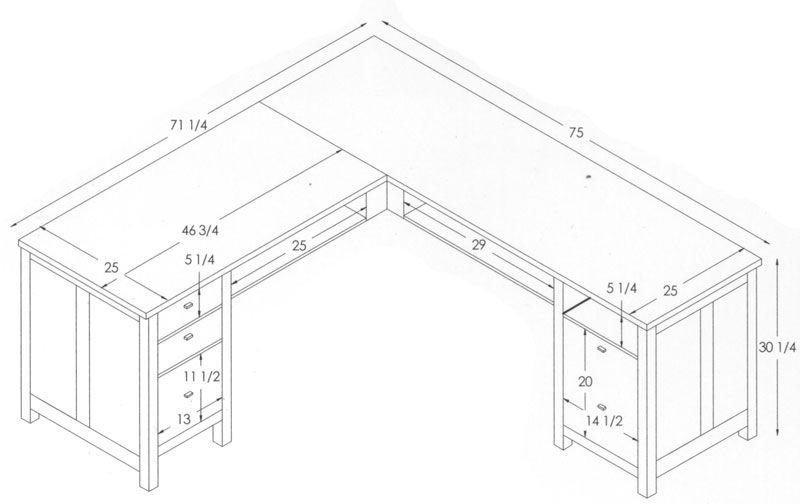 Office Desk Size Digihome Desk Design Diy Desk Diy Plans