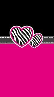 Omg Hearts,pink,zebra print=K Double D In love!