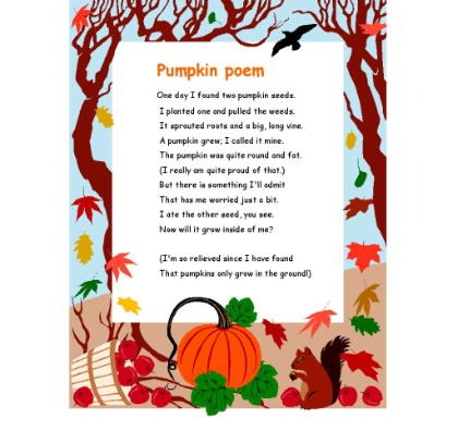 explore halloween poems for kids and more - Cute Halloween Poem