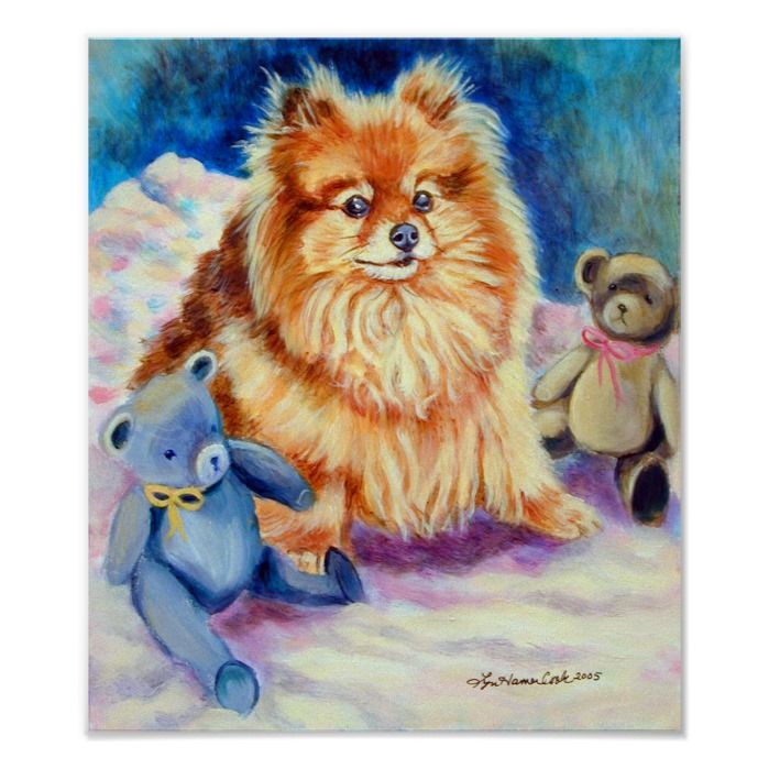 Pomeranian Wall Print Zazzle Com In 2021 Dog Drawing Animal Art Dog Art