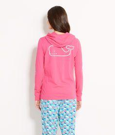 Long-Sleeve Printed Whale Hoodie Tee