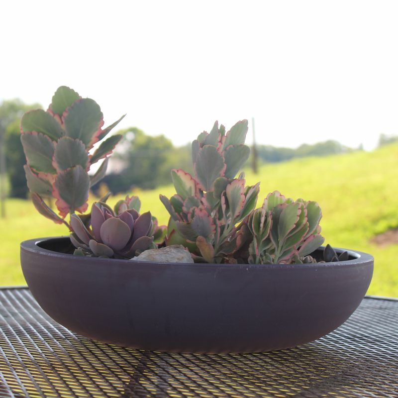 Poly Resin Garden Bowls Large Garden Planters Resin Planters