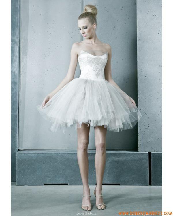 Robe ballet en satin et tulle appliquée de broderies robe de mariée ...