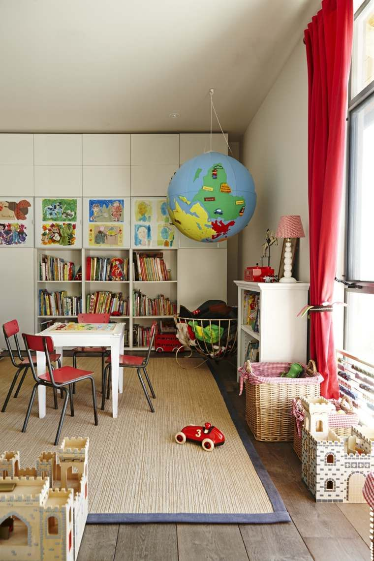 Rangement Jouet Et Deco De Salle De Jeux D Enfant Modern Kids Room Playroom Storage Childrens Bedrooms Design