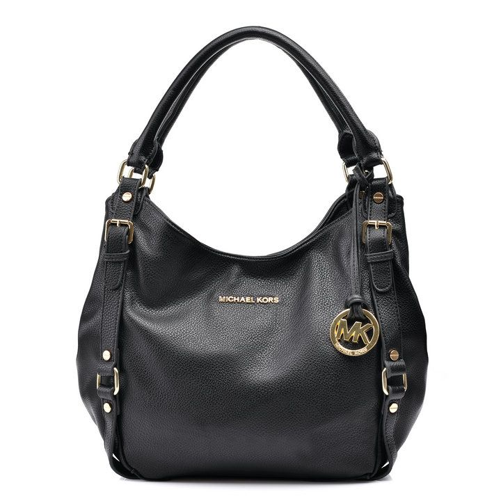 Michael Kors Bedford Large Black Shoulder bag | Plus size fashion ...
