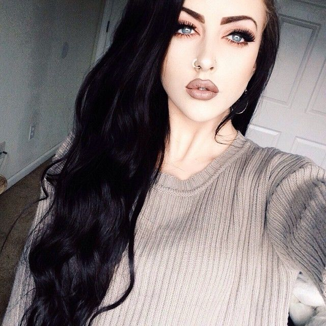 Pin By Mitzie Wise On Make Up Ideas Black Hair Pale Skin Fair Skin Makeup Hair Pale Skin