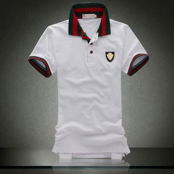 Polo ralph lauren discount gucci metal logo striped collar for Cheap polo collar shirts