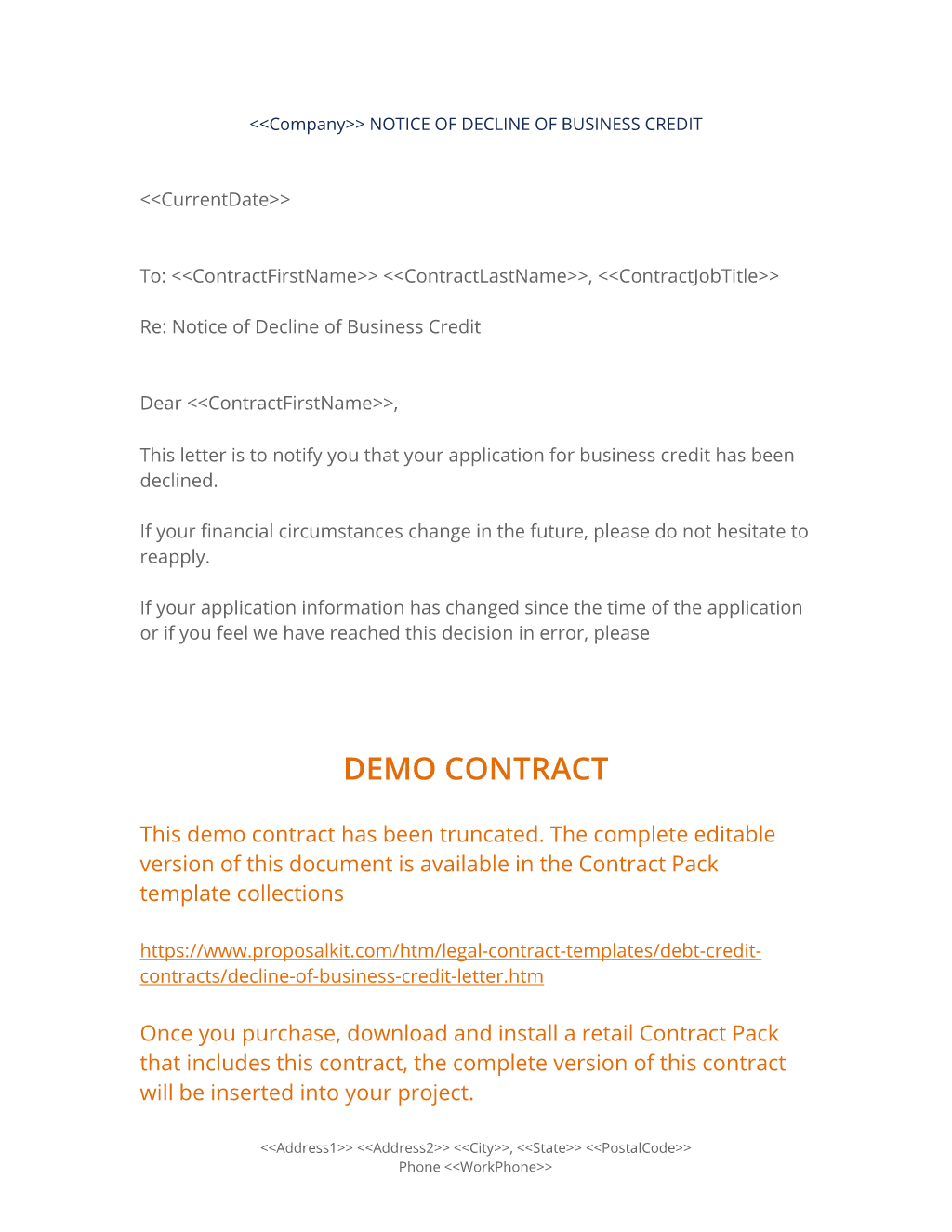 Agreement Letter For Loan Brilliant Decline Of Business Credit Letter  The Decline Of Business Credit .