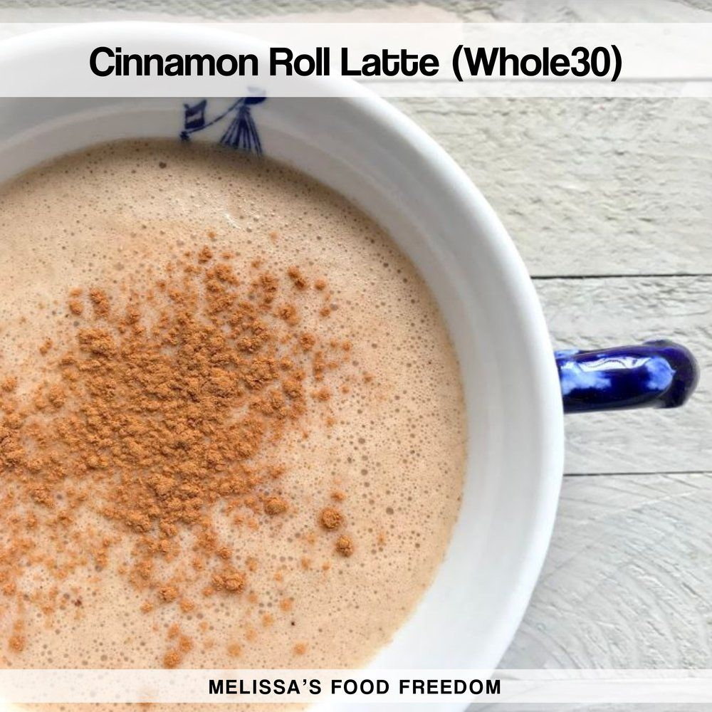 Cinnamon Roll Latte (Whole30)