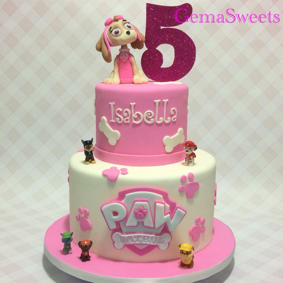 Paw Patrol Skye birthday cake by Gema Sweets. | My Creations | Paw ...
