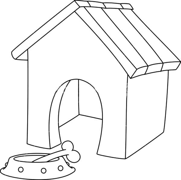 Dog Kennel Colouring Google Search House Drawing Dog House