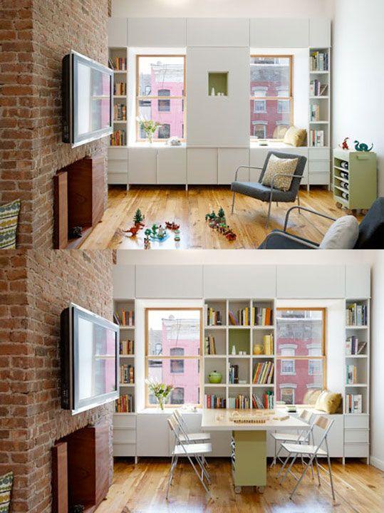 A Small Family Apartment In The City Amenagement Appartement Amenagement Petit Espace Astuce Pour Petit Espace