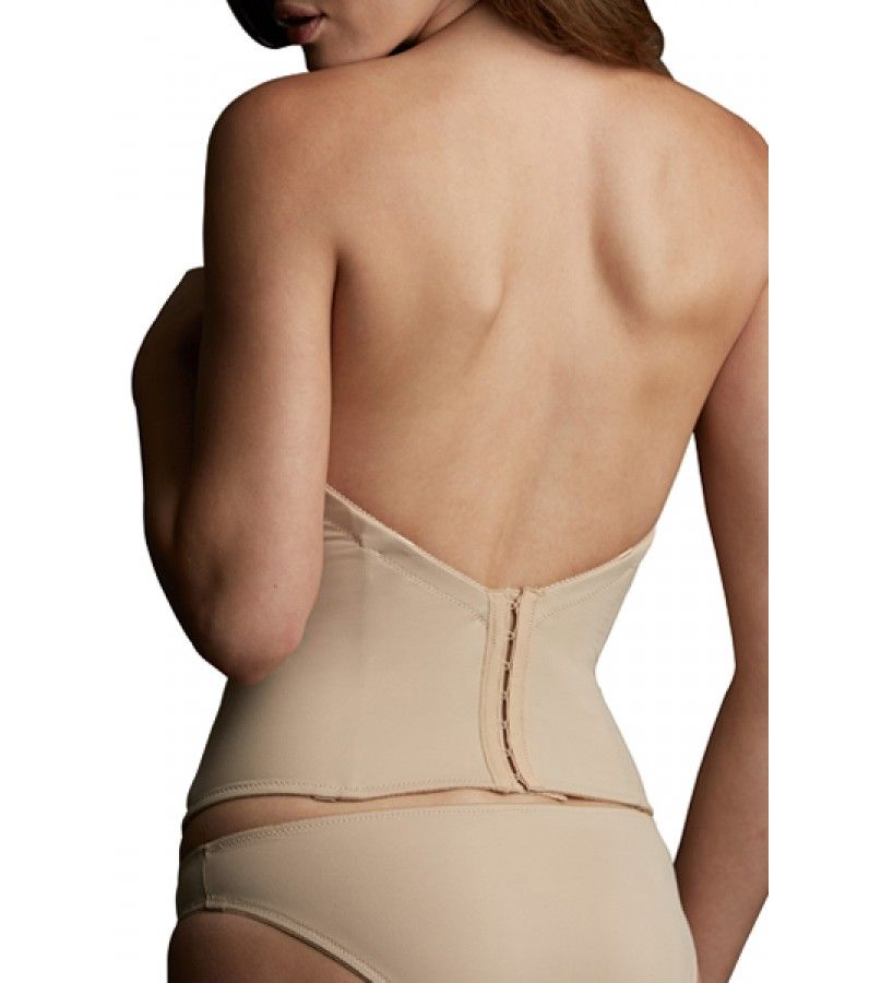 This low back bustier by VaBien cinches your waist  streamlines your  silhouette and disappears under your most form fitting clothing Low Back Strapless Bustier by VaBien 1508   Dress   Accessories  . Corsets Under Wedding Dress. Home Design Ideas