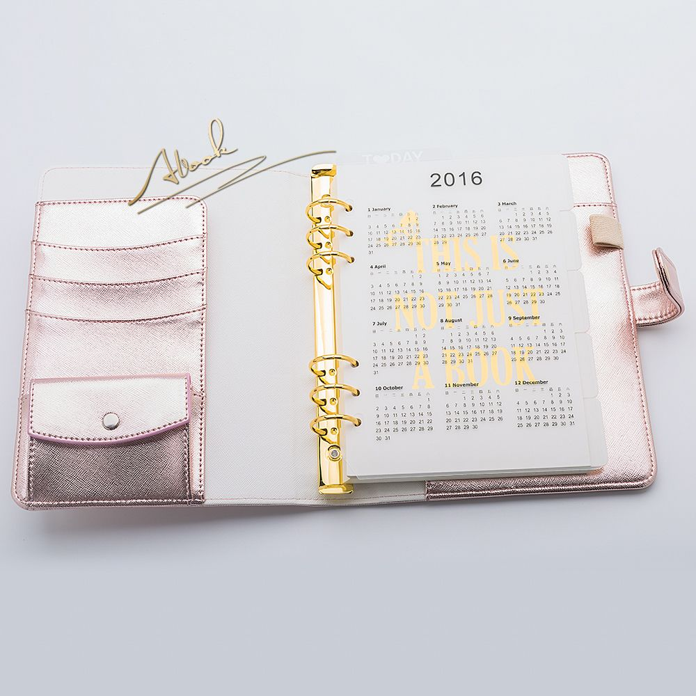 Abook Free Shipping New A5 Planner Diary Agenda Kawaii Stationery Journal Office Supplies Hasp Rose Pink