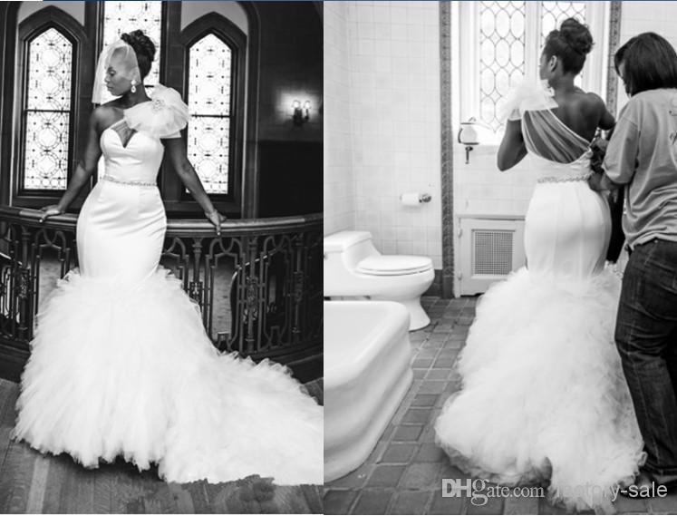 2014 Vingtage Mermaid Wedding Dresses Plus Size One