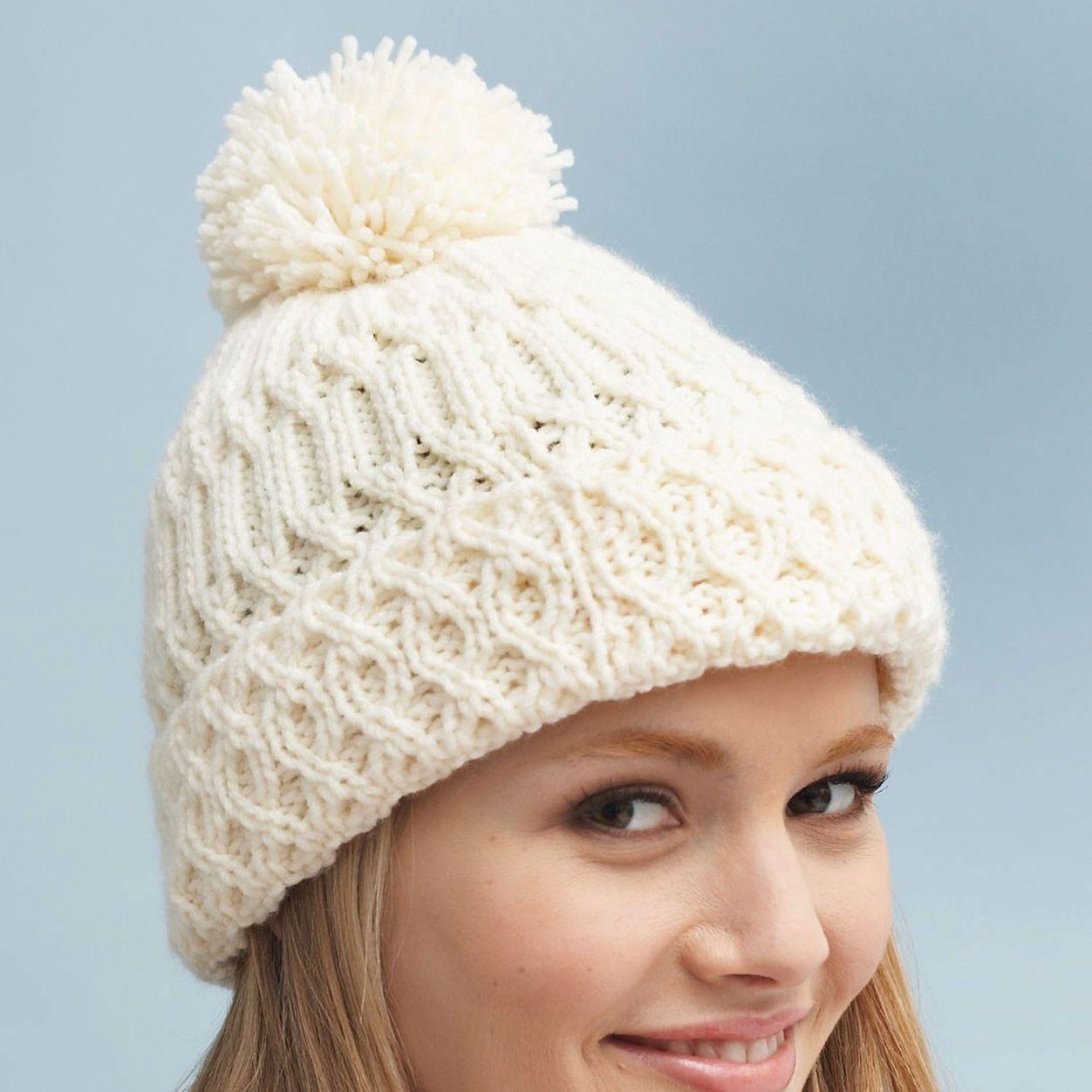 Bernat Aran Hat Pattern | Yarnspirations | Aran hat, Aran ...