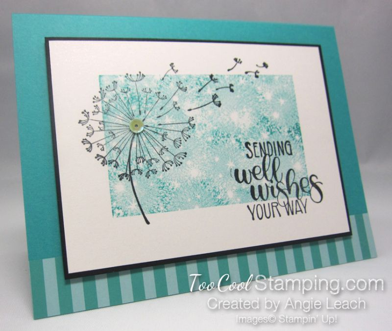Dandelion Wishes Well Wishes Bermuda Flower Stamped Cards Dandelion Wish Cards Handmade