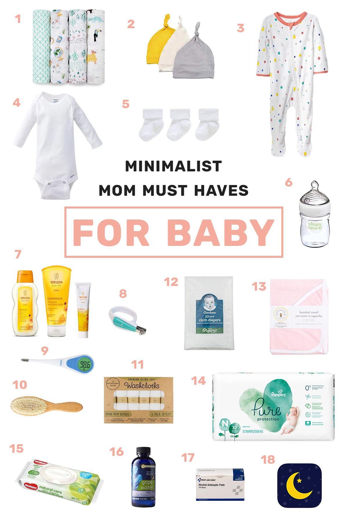 Free printable: Minimalist Baby Essentials Checklist ...
