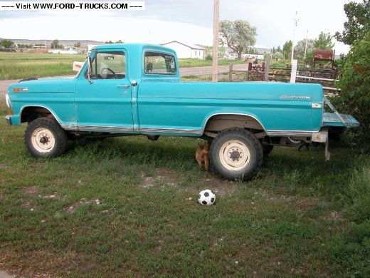 1970s Ford Trucks Turquoise 1970 Ford F250 4x4 My 70 Highboy