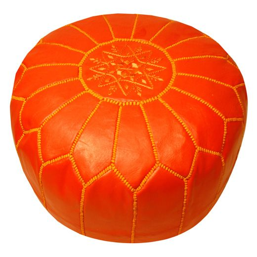 """Jonathan Adler pouf - he has a whole section on his website called """"Orange-spiration"""" = perfection."""
