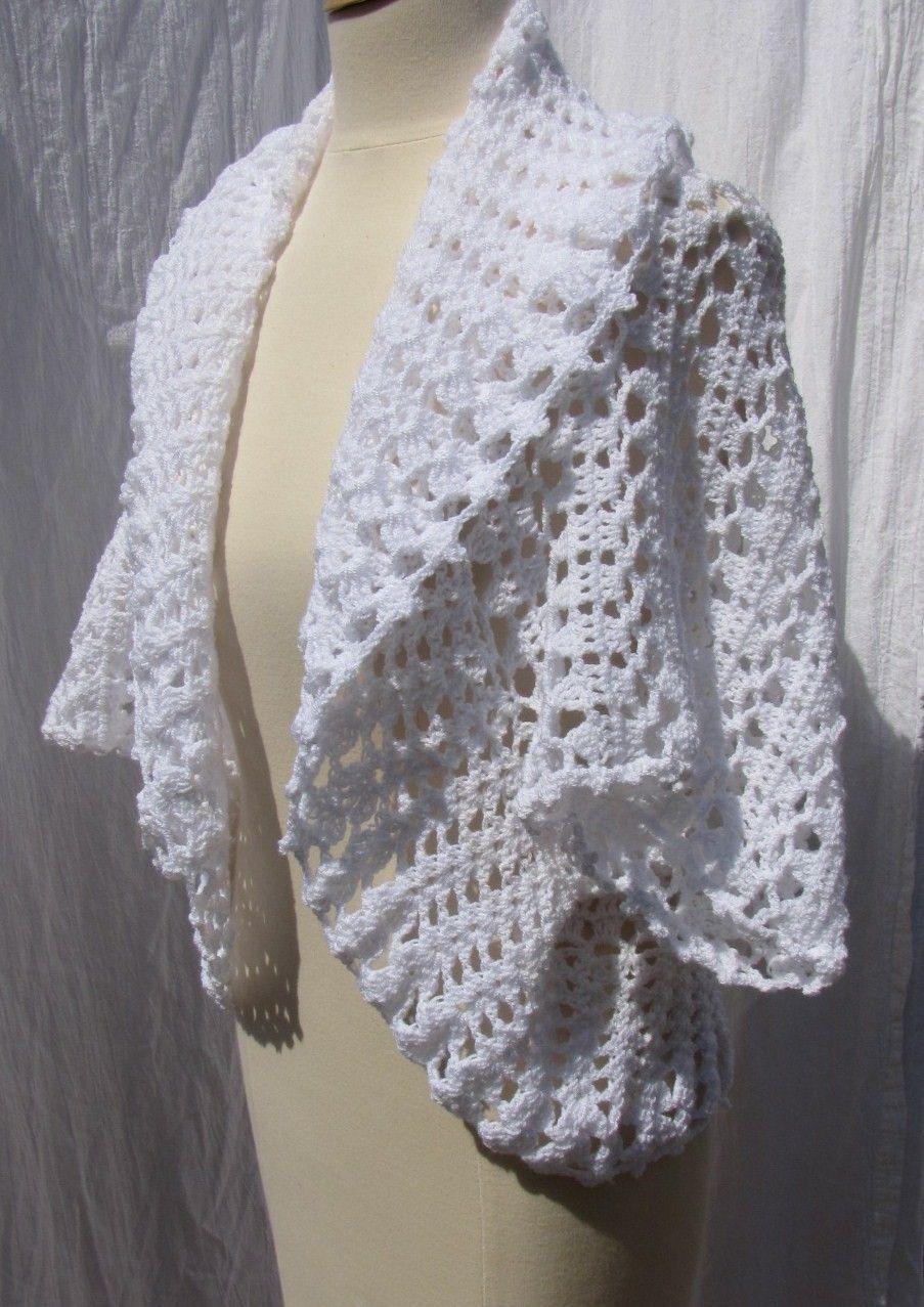 free crochet shrug patterns | Free Madison Shrug Pattern [FP171 ...