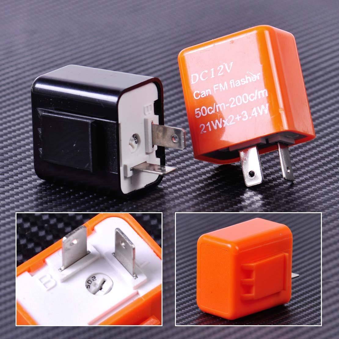 895aud 2 Pin Speed Adjustable Led Flasher Relay Motorcycle Turn Electronic Signal Indicator Ebay Fashion