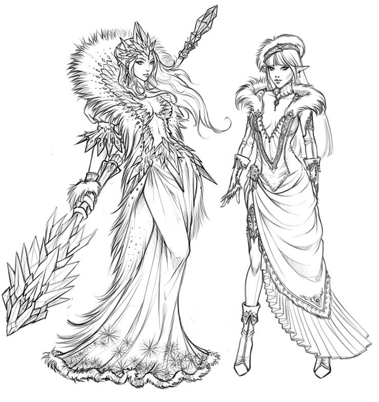 The Lady of Crystals and her fetching apprentice. By Eva Widermann