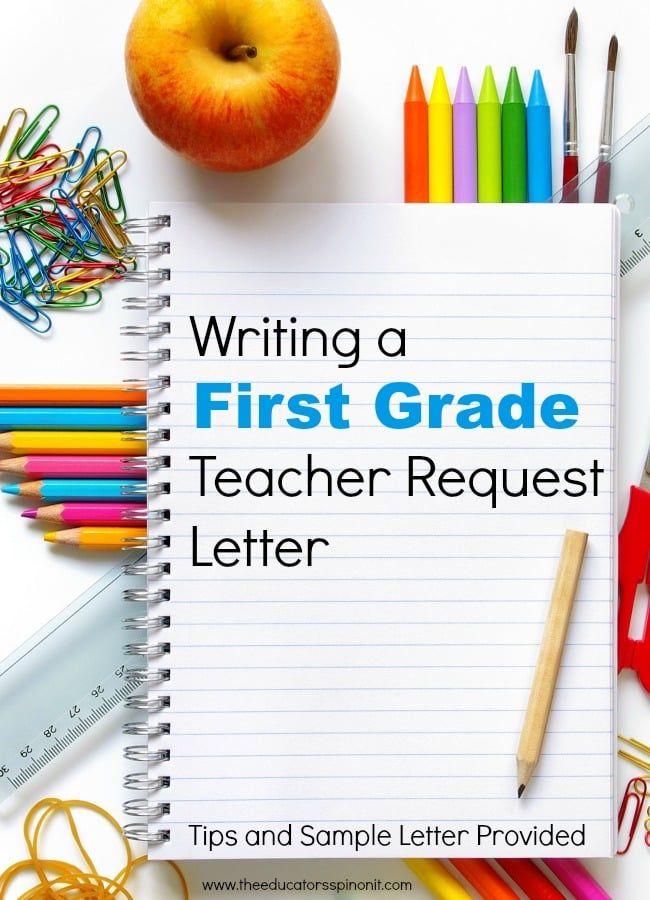 teacher request sample letter