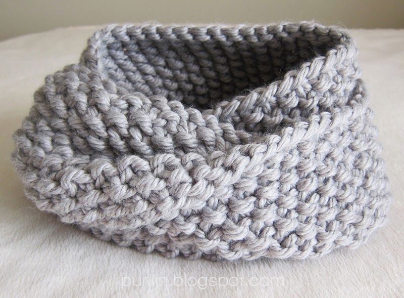 About The December Seed Stitch Infinity Circle Scarf I Love