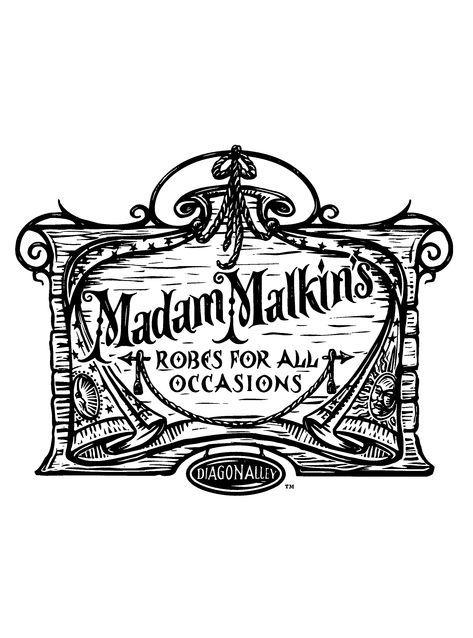 madam malkins hp coloring page hogwarts pinterest harry potter harry potter zeichnungen. Black Bedroom Furniture Sets. Home Design Ideas