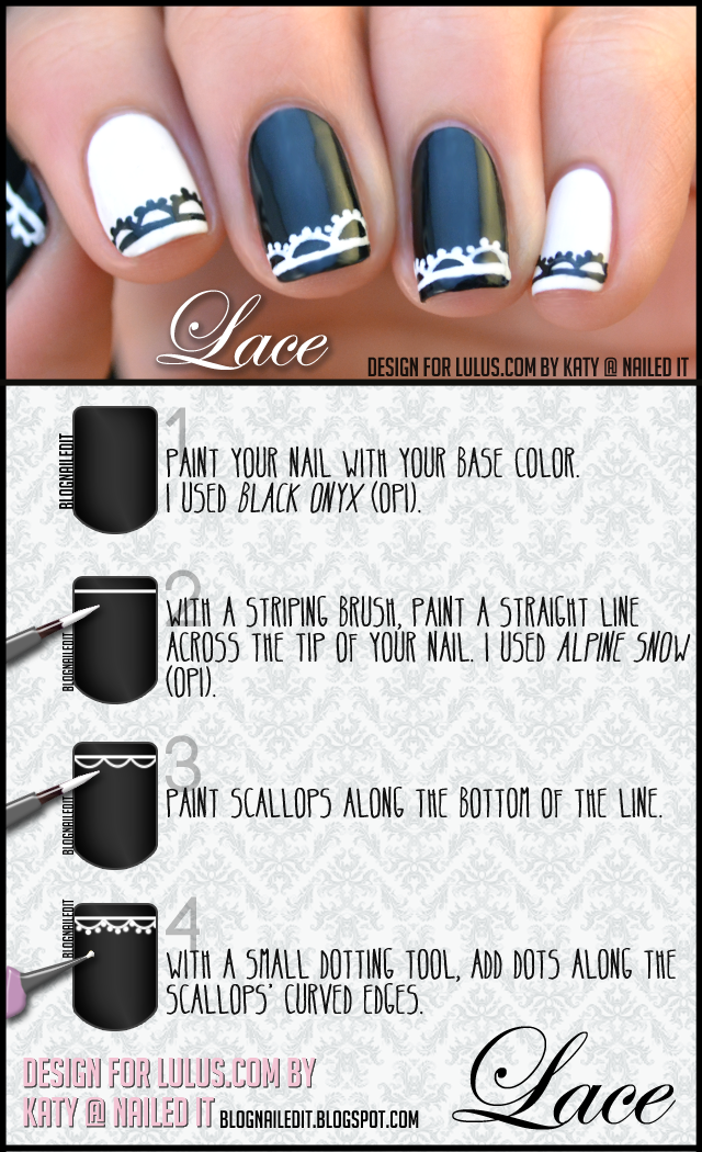 Lace Nails Tutorial For Lulus