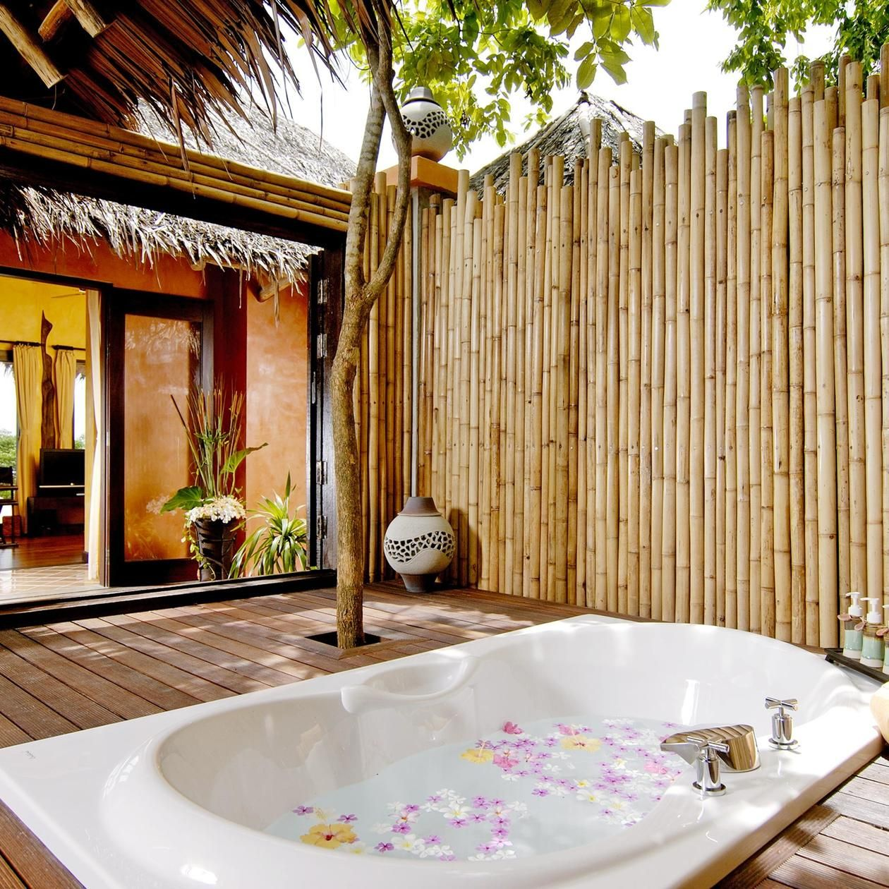Phi Island Village Beach Resort Ko Don Thailand Bath Beachfront Deck Hot Tub Jacuzzi Patio Romantic Sea Tropical Villa