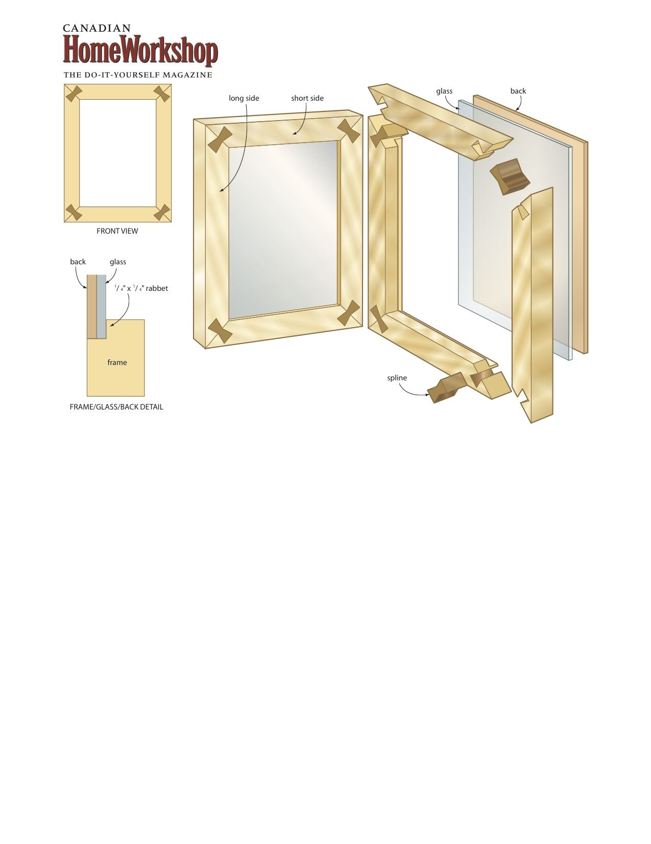 Turn Old Pallets Into Picture Frames Canadian Home Workshop Home Workshop Pallet Picture Frames Diy Picture Frames
