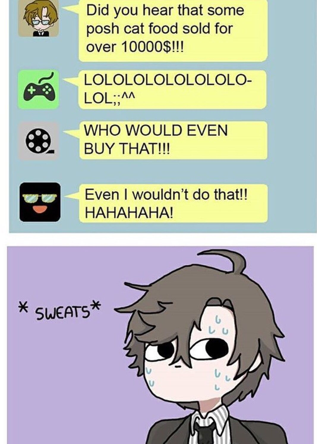 Jumin would ;3>>why who would buy that much forjumin?why