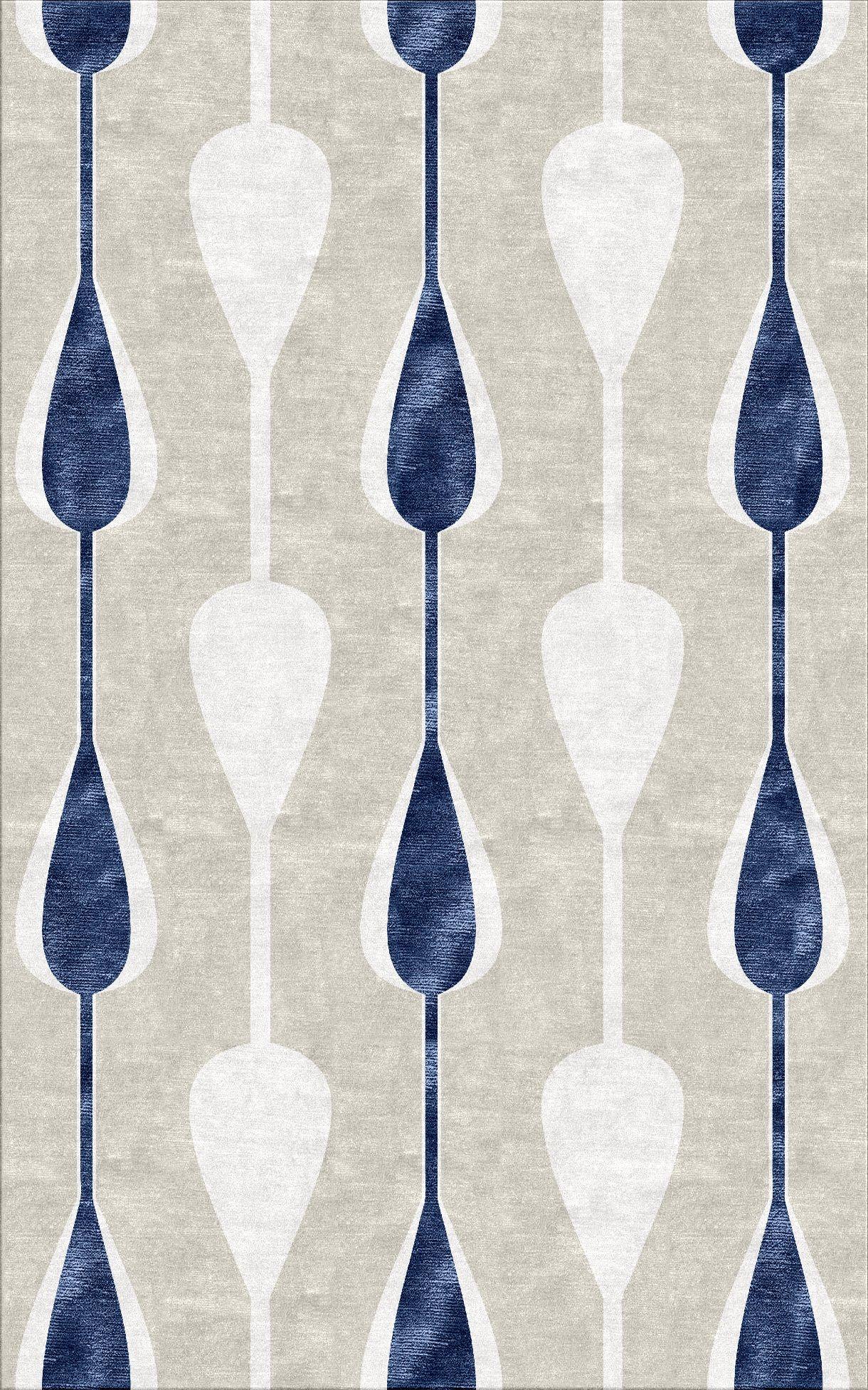 Custom Cool Rug Rendering A Splash Of Blue In 2019