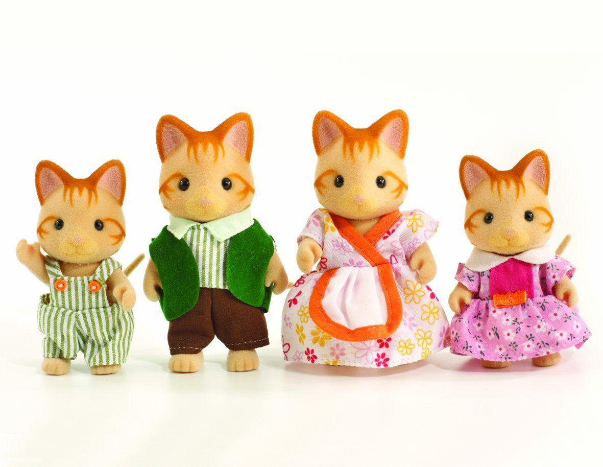 Sylvanian Families Ginger Cat Family Amazon.co.uk Toys