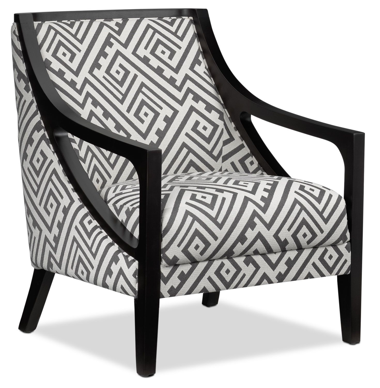Santos Accent Chair Grey Lattice Accent Chairs Grey Chair Chair