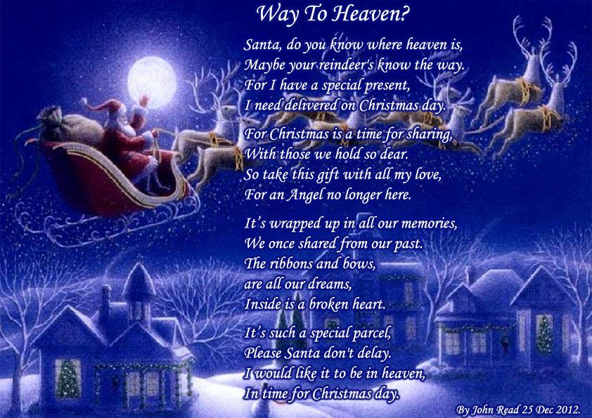 christmas time on gayle drive with all the family crowded into a few rooms cousins playing and comparing what santa brought beautiful times that will - Merry Christmas From Heaven Poem