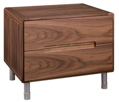 Notch Bedside Table Walnut Dwell 149 Walnut Bedside Table