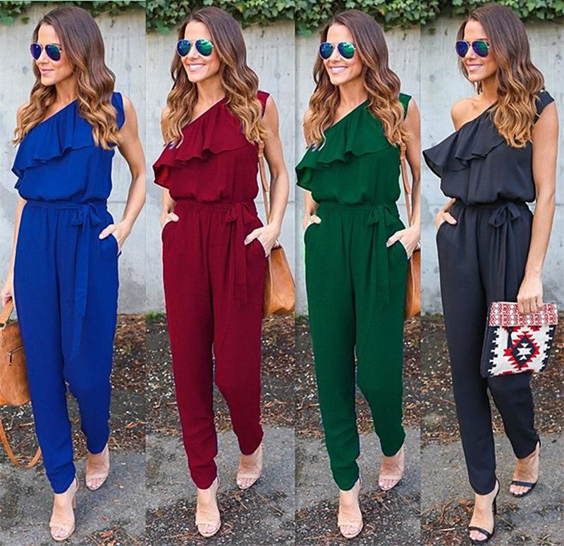 2bb1f8e7910d Item Type  Jumpsuits   Rompers Gender  Women Pattern Type  Solid Type   Jumpsuits Style  Casual Brand Name  SMILE FISH Model Number  GV608 Length   Full ...