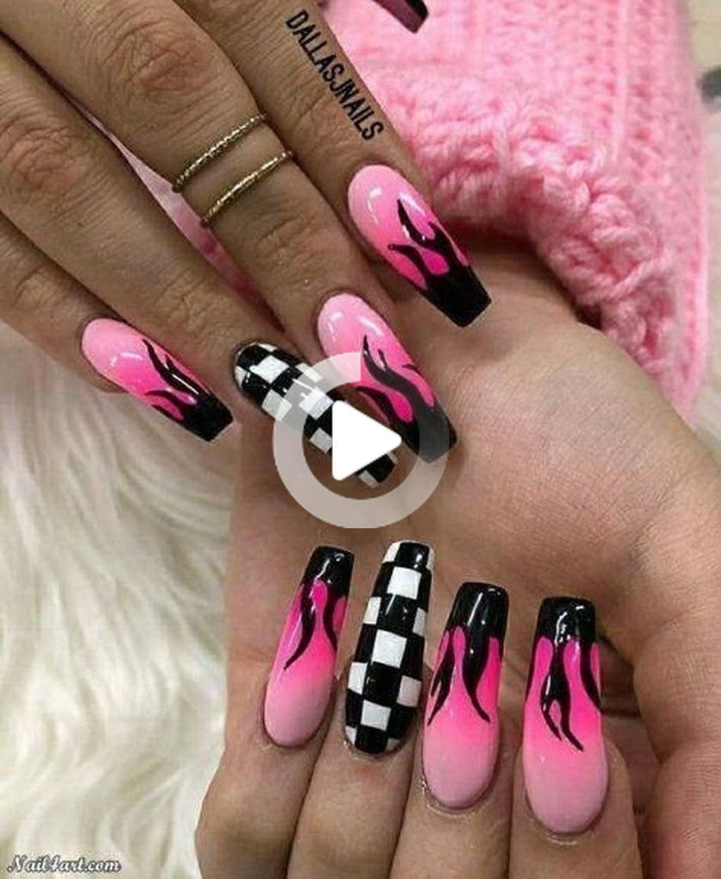 Stylish 30+ Casual Acrylic Nail Art Designs Ideas To Fascinate Your Admirers #celebrity #celebrities