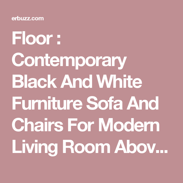 Floor : Contemporary Black And White Furniture Sofa And Chairs For ...